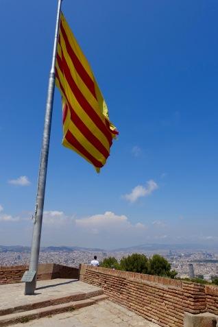 Catalan Flag at Castell de Montjuïc