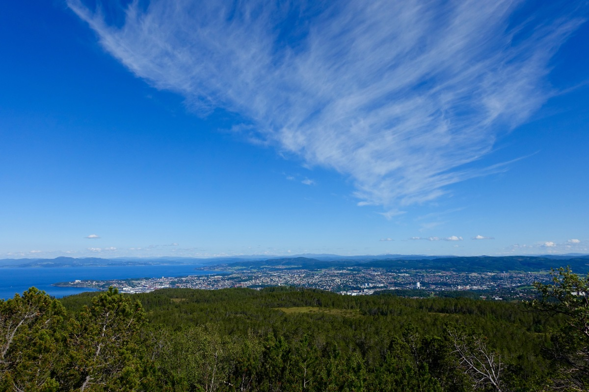 The best viewpoint of Trondheim - Geitfjellet